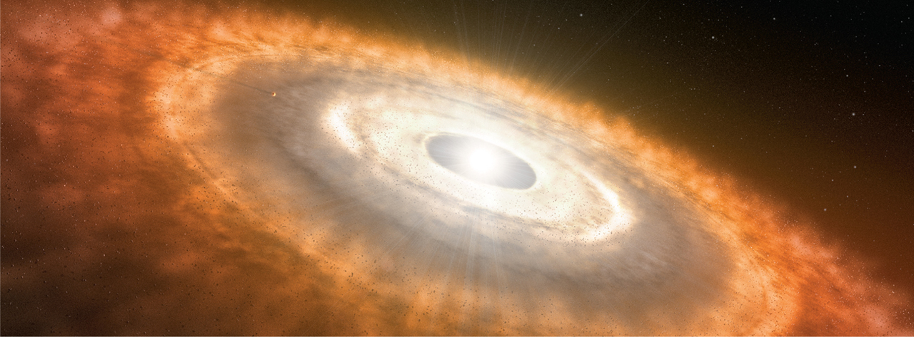 Meteorites suggest that a proto-Jupiter separated two sets of asteroids in the early solar system's dust disk.